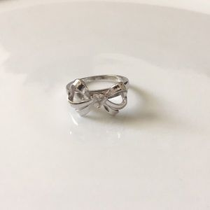 Sterling Silver and Sapphire Bow Ring